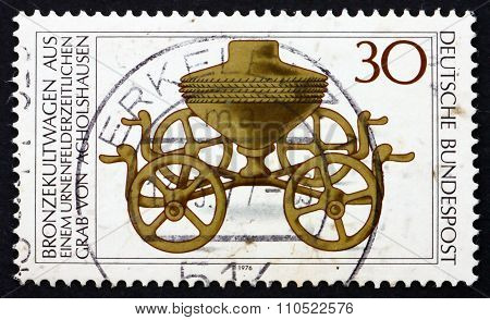 Postage Stamp Germany 1976 Bronze Ritual Chariot