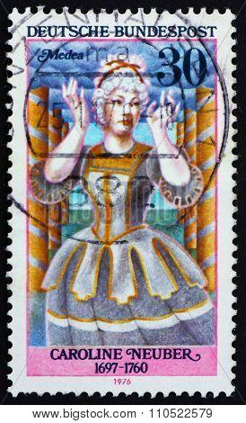 Postage Stamp Germany 1976 Caroline Neuber As Medea