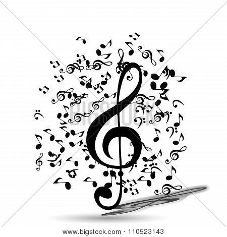 Abstract Music Background. Vector Illustration for your Design.