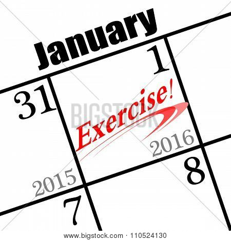 2016 new year's day icon to exercise