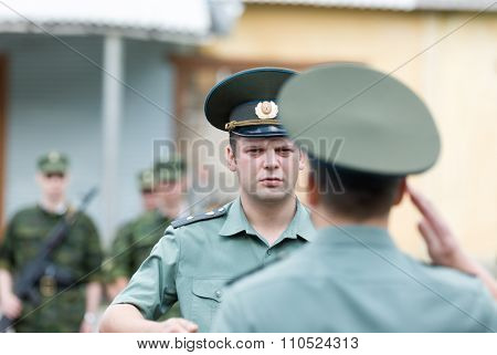 Russian army scene