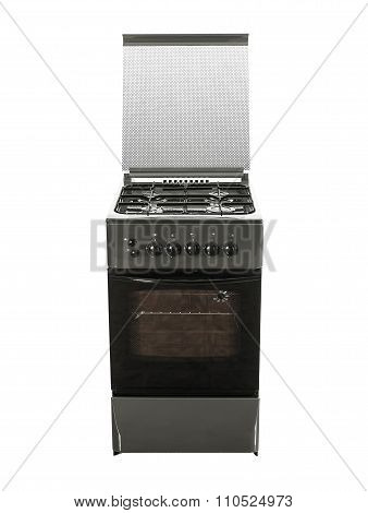Gas Cooker with Single Oven front view isolated on white
