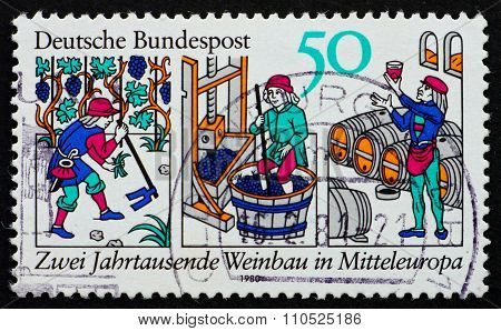 Postage Stamp Germany 1980 Wine Production