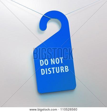 Do not disturb tag. Blue color.