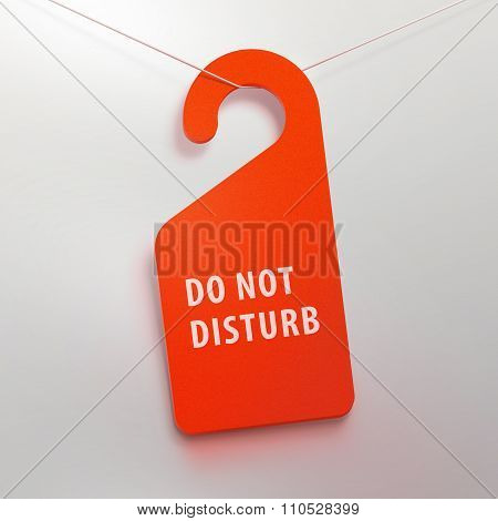 Do not disturb tag. Red color.