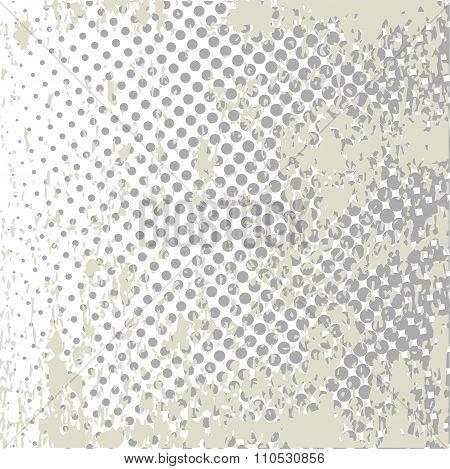 Grunge Halftone Style Dot Matrix