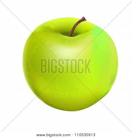 Sweet Tasty Apple. Vector illustration