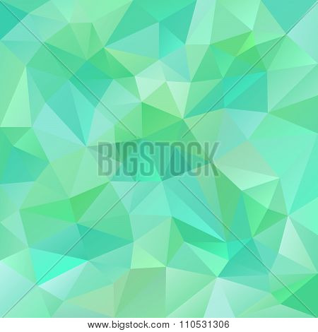 Vector Polygon Background With Irregular Tessellations Pattern - Triangular Design In Fresh Spring
