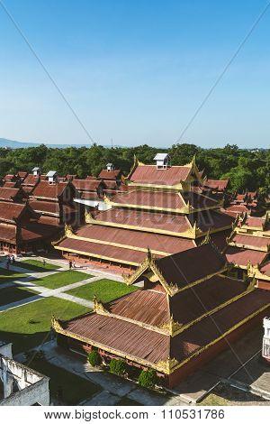 Mandalay Palace In Mandaylay City, Myanmar