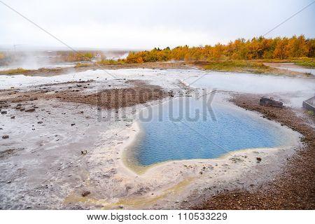 Hot Spring Near Strokkur Geyser,iceland
