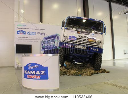 Truck Kamaz-master At The Exhibition.