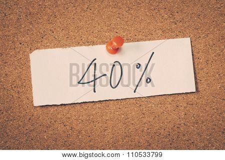 40 Forty Percent