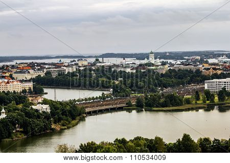 View Of Helsinki From The Tower Of The Olympic Stadium.finland.