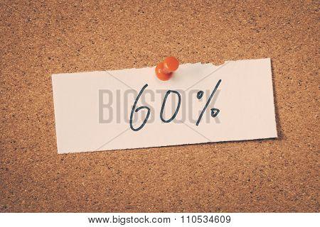 60 Sixty Percent