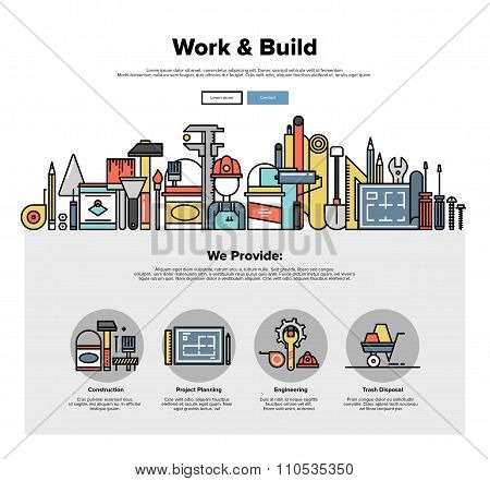 Engineering Tools Flat Line Web Graphics