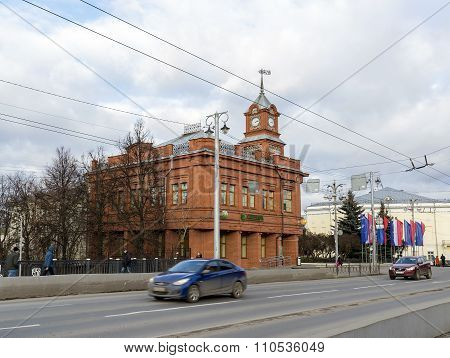 VLADIMIR, RUSSIA -05.11.2015. Sberbank on Bolshaya Moskovskaya Street - Historic downtown
