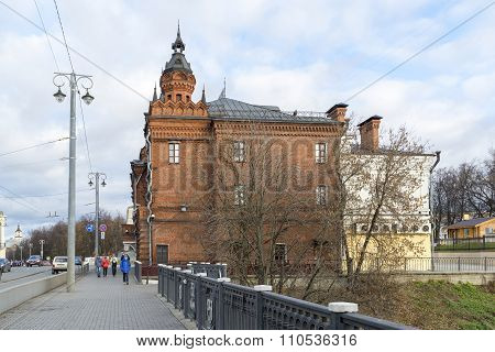 VLADIMIR, RUSSIA -05.11.2015.Building of the former City Duma on  Bolshaya Moskovskaya Street - Hist