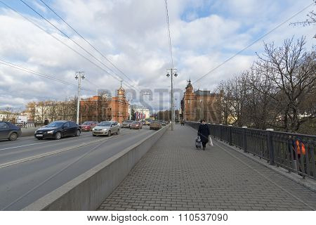VLADIMIR, RUSSIA -05.11.2015. Bolshaya Moskovskaya Street is a Historic downtown