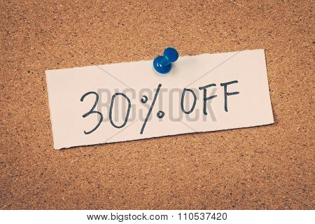 30 Thirty Percent Off