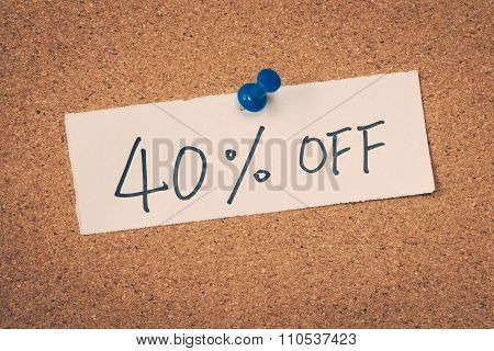 40 Forty Percent Off
