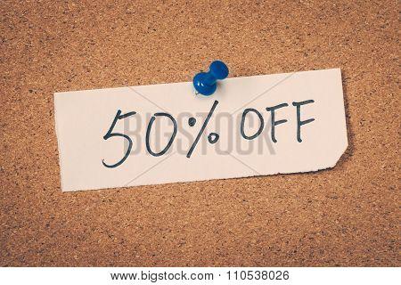 50 Fifty Percent Off