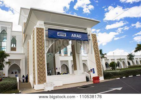 Arau Train Station Entrance