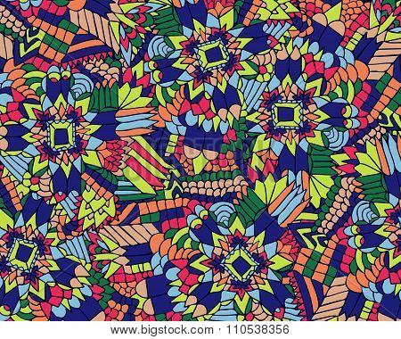 Zentangle Background Unuasual Colorful 1