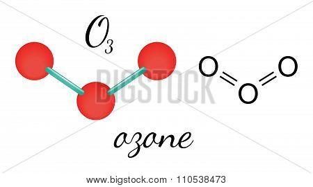 O3 ozone molecule