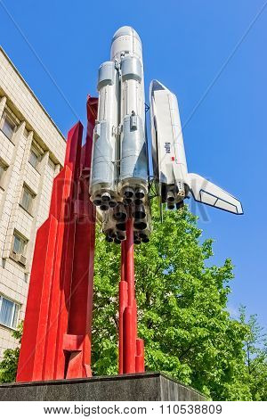 Small Copy Of Space Shuttle Buran In Sunny Day