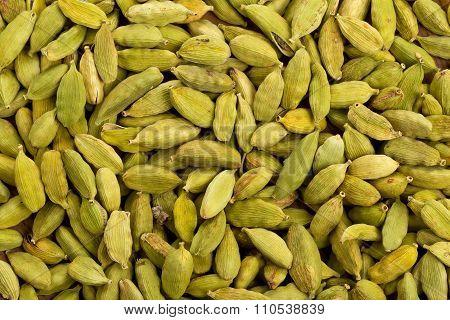 Cardamom Seed Pods Background
