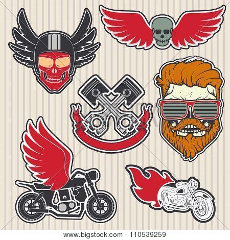 Biker Logos set