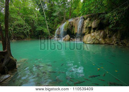 Erawan Waterfalls At Thailand