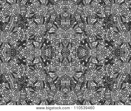 Zentangle Background Unuasual Grey 3