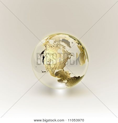 Golden Globe (global And Communication Concept)