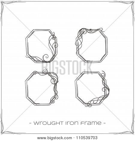 Wrought Iron Frame Three