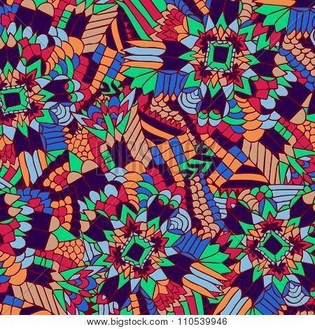 Zentangle Background Unuasual Colorful 3