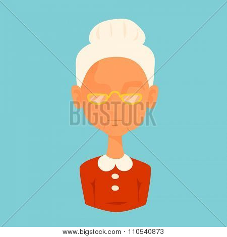 Misses Santa Claus wife avatar face icon vector illustration. Misses Claus cartoot people. Christmas traditional costume. Woman silhouette isolated. Santa Claus family. Christmas avatar face icon