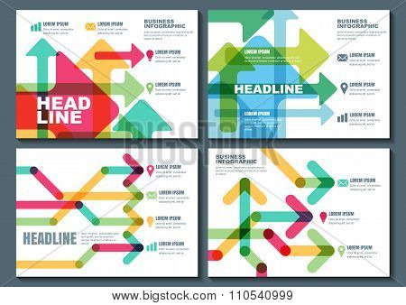 Set Of Vector Business Template For Flyer, Banner, Brochure, Poster, Infographic Design.