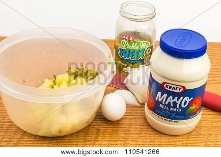 Making Potato Salad