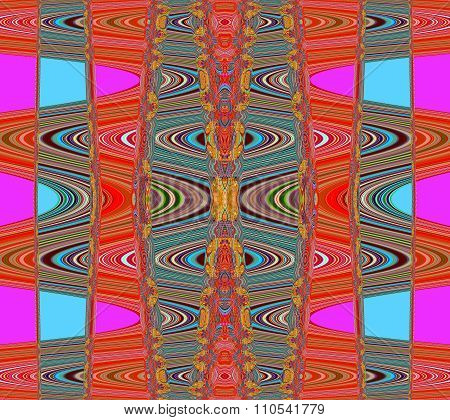 Illusion in pink red and blue
