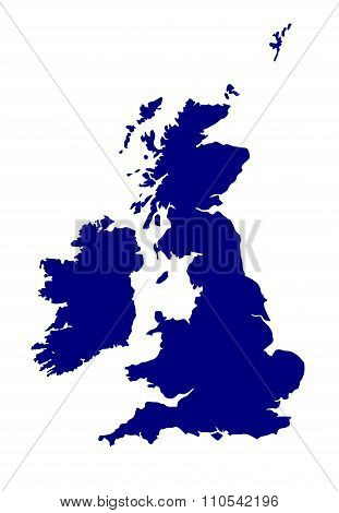U.k. And Southern Ireland Silhouette