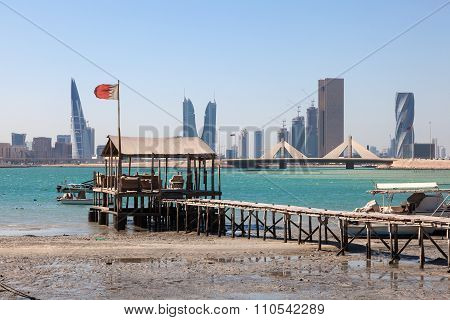 Fishing Pier In Muharraq, Bahrain