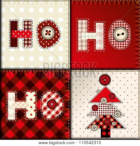Christmas patchwork pattern