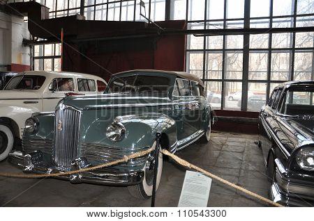 MOSCOW, RUSSIA - NOVEMBER 9, 2013: Soviet Car Zis 110 Cabrio