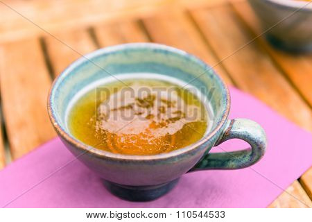Norman Apple Cider In A Typical Ceramic Cups