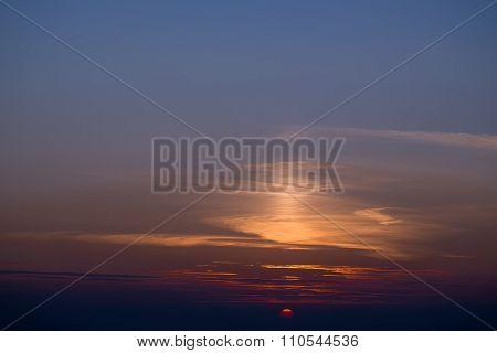 Spectacular Violet Sunset