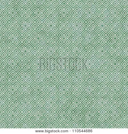 Green And White Square Geometric Repeat Pattern Background