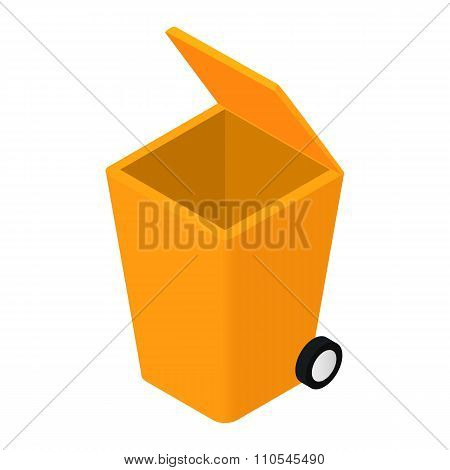 Trash can isometric 3d icon