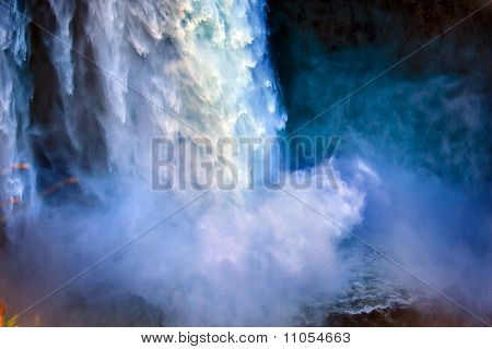 Snoqualme Falls Waterfall Abstract Washington State Pacific Northwest