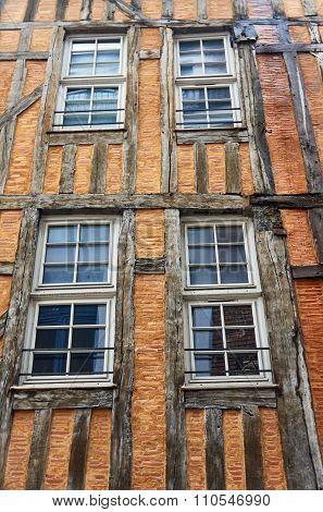 timber-framed building windows